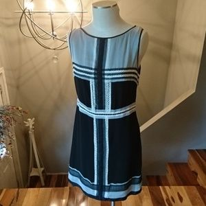Max Studio Size Large Black & Cream Sheath Dress